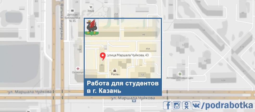 Карта Казань